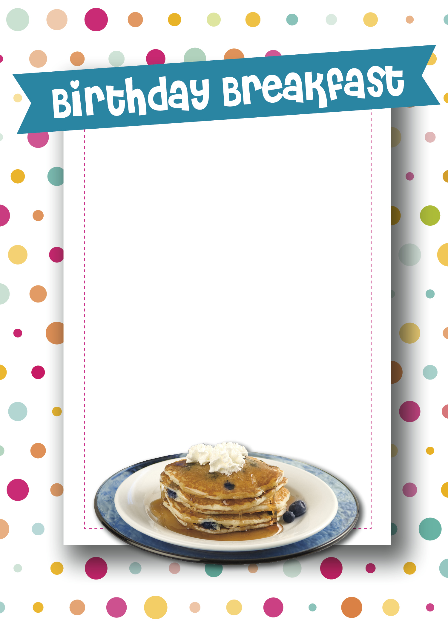 Birthday Breakfast Invitation - Planning Perfect Parties